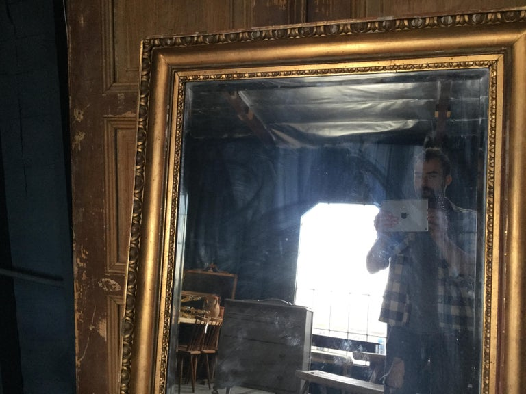 Vintage European Gilded Mirror In Good Condition For Sale In Los Angeles, CA