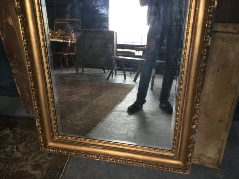 Early 20th Century Vintage European Gilded Mirror For Sale