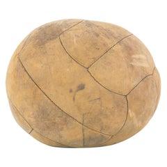 Vintage European Leather Medicine Ball