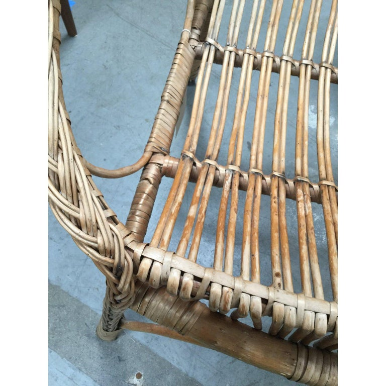Boho chic rattan chair from the 1950s. In great condition!