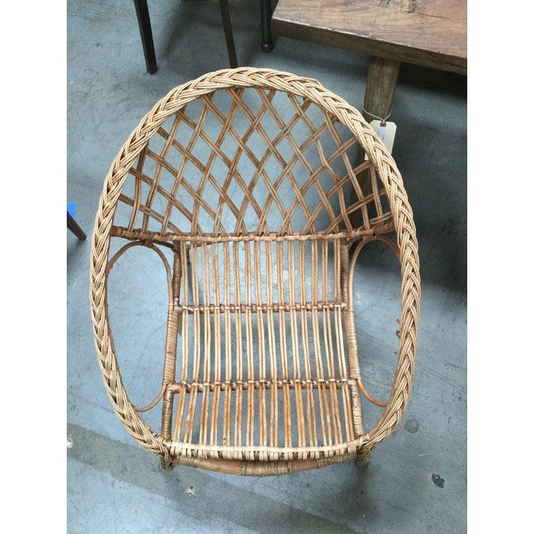 Vintage European Rattan Chair For Sale 2