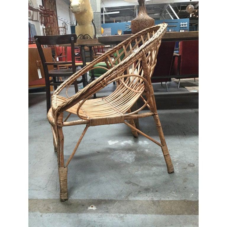 Vintage European Rattan Chair For Sale 3
