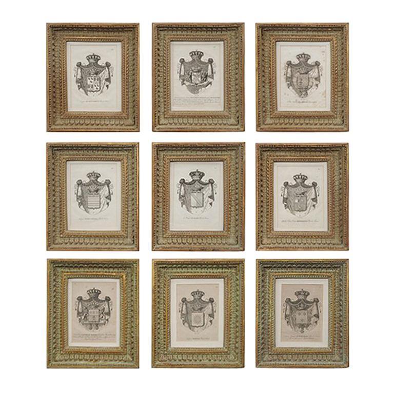 Set of Framed Antique Prints