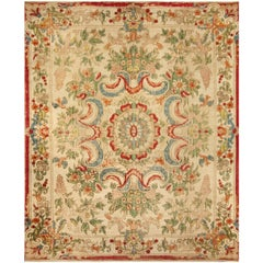 Vintage European Silk Table Carpet