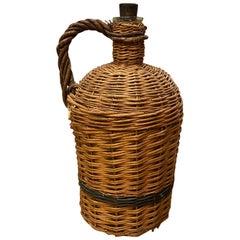 Vintage European Wicker Wine Jug