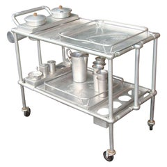 Vintage Everlast Aluminum Serving or Bar Cart