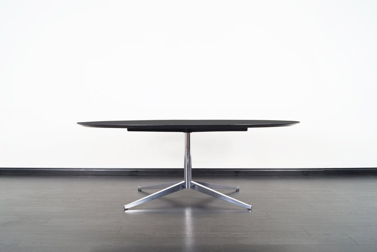 Metal Vintage Executive Desk or Dining Table by Florence Knoll For Sale