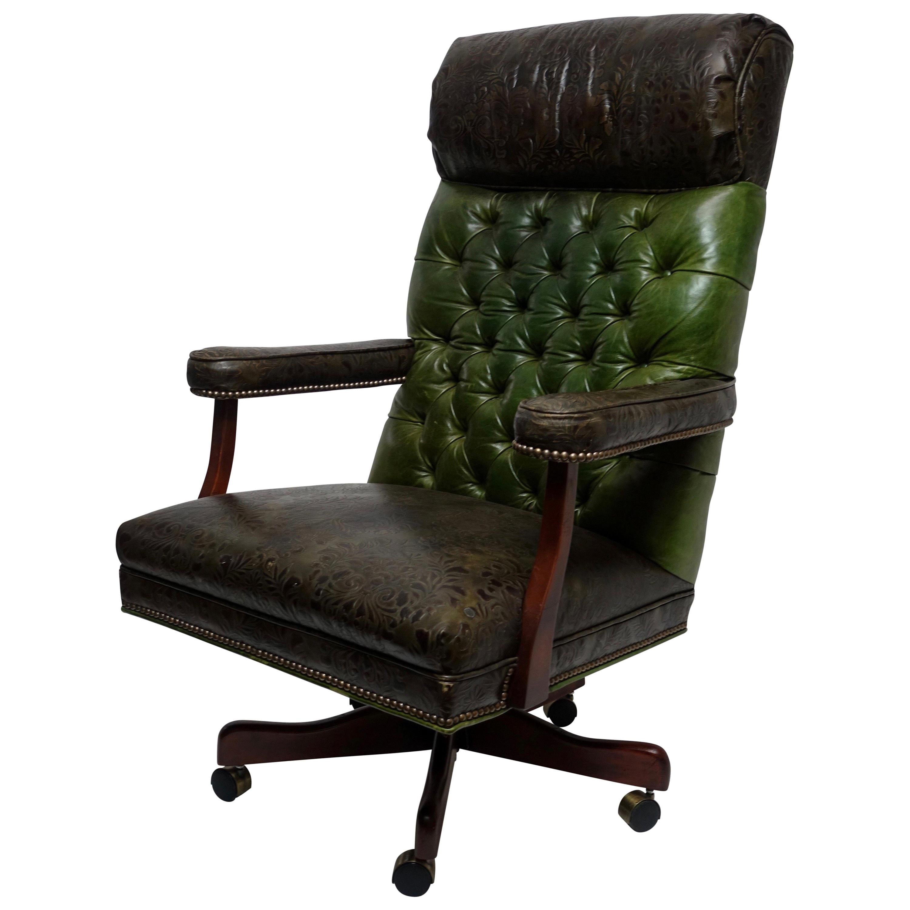 Strange Vintage Executive Leather Office Desk Library Chair Gamerscity Chair Design For Home Gamerscityorg