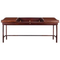 Vintage Executive Rosewood Tambour Doors Desk Model #452 by Edward J. Wormley