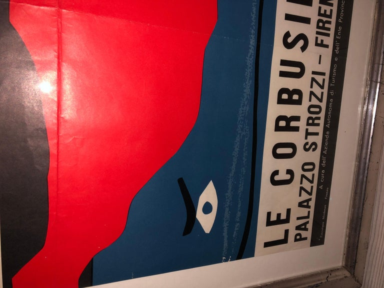 Italian Vintage Exhibition Poster by Le Corbusier For Sale