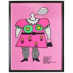 Vintage Exhibition Poster by Niki de Saint Phalle, 1968