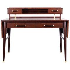 """Vintage Expanding Walnut """"Jet"""" Desk"""