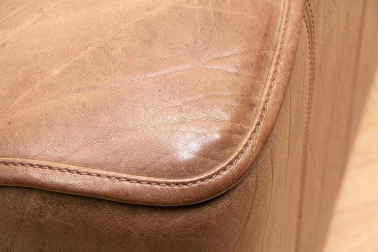 Late 20th Century Vintage Extending Leather Sofa by De Sede DS44