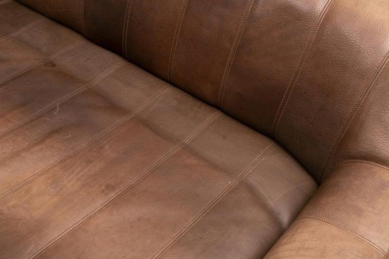 Vintage Extending Leather Sofa by De Sede DS44 2