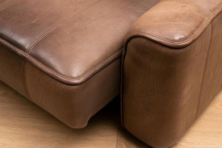 Vintage Extending Leather Sofa by De Sede DS44 3