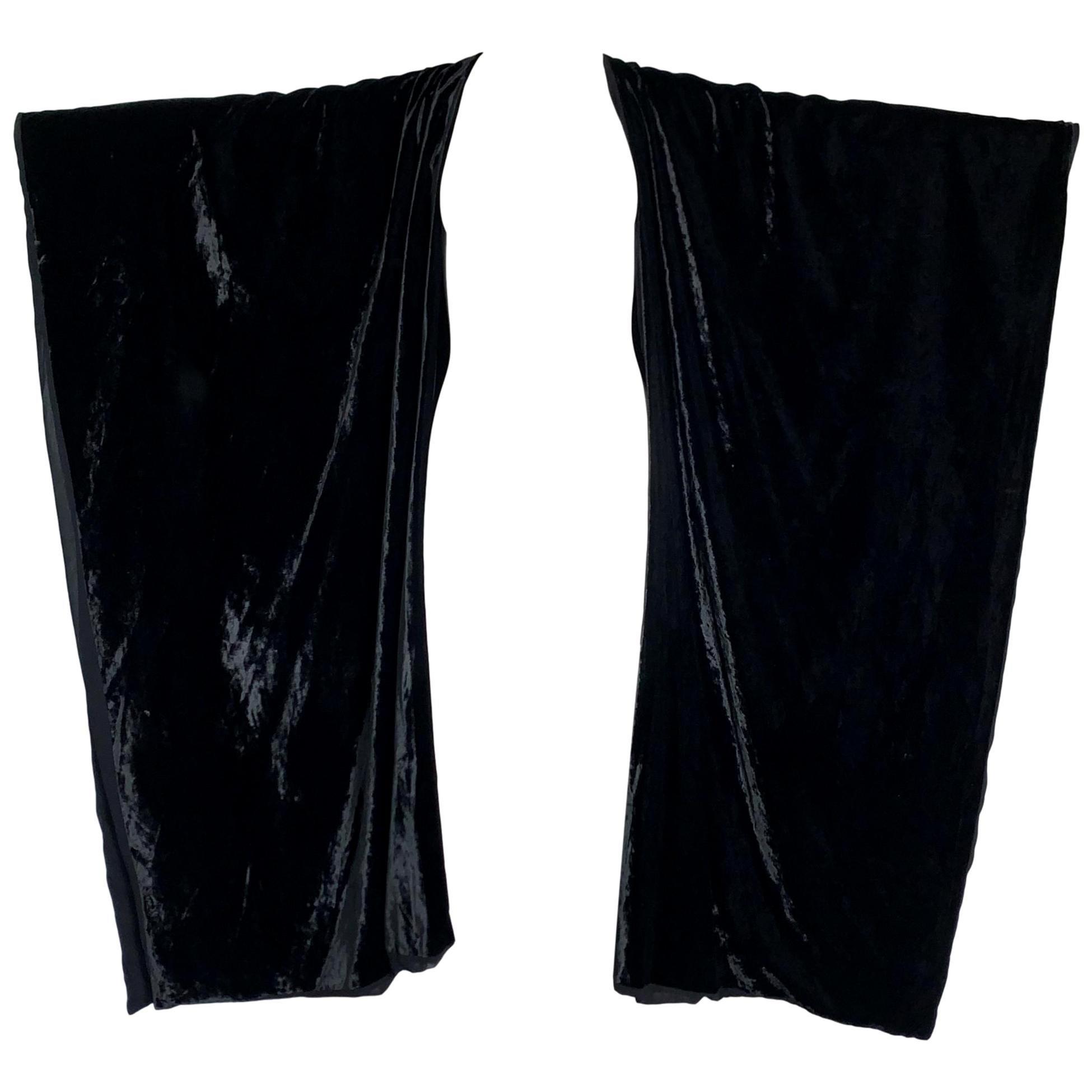 Vintage F/W 1993 Dolce & Gabbana Black Velvet Kimono Cape Coat