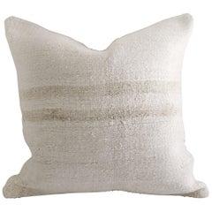 Vintage Faded Stripe Turkish Hemp Pillow
