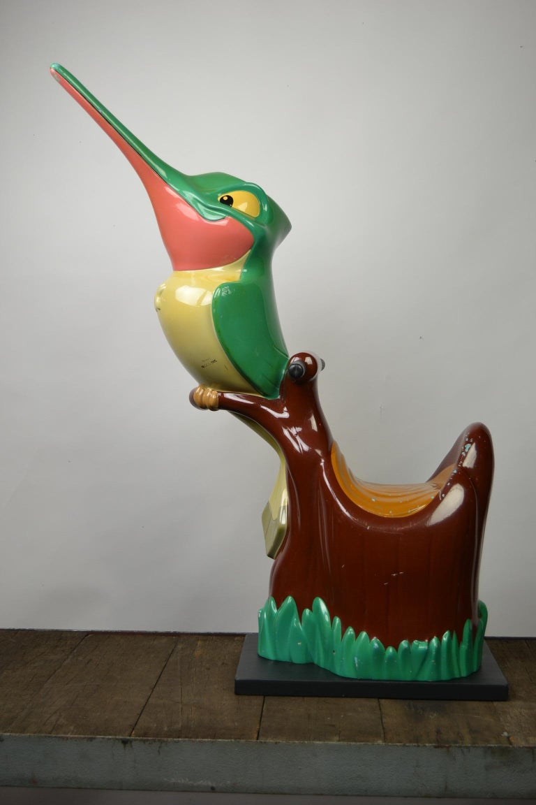 Vintage Fairground Flit the Hummingbird Figurine, Pocahontas, 1990s For Sale 9