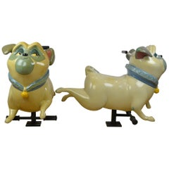 Vintage Fairground Pug Dog Figurine , Pocahontas, 1990s