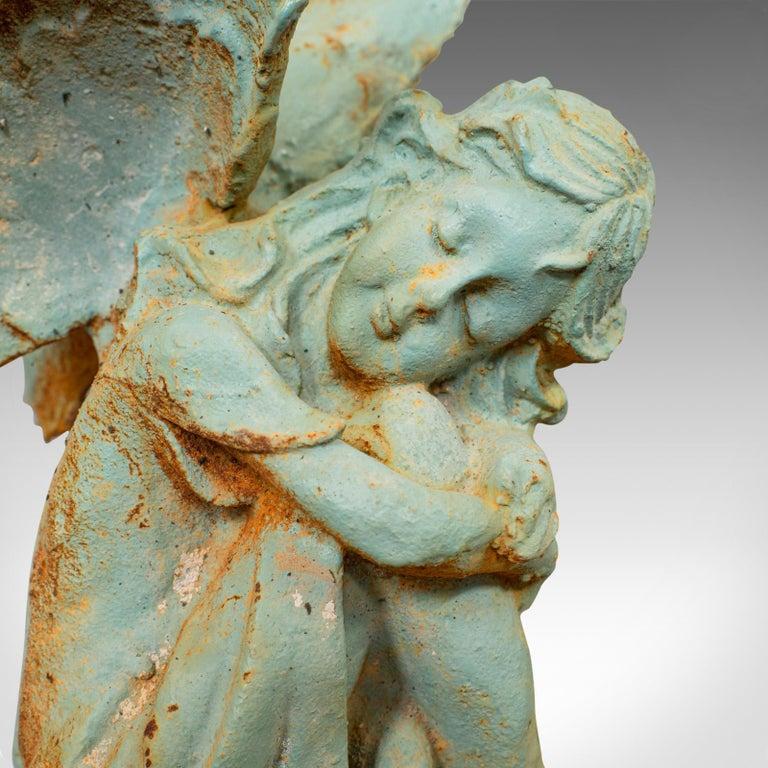 Vintage Fairy Ornament, English, Cast Iron, Garden, Decorative, Statuette For Sale 2