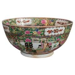 Vintage Famille Rose Bowl, Oriental, Ironstone, Dish, Art Deco, circa 1940