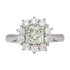 Vintage Fancy Diamond Coronet Cluster Ring, circa 1970