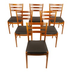 Vintage Farstrup Chairs in Teak and Beech, Set of 6