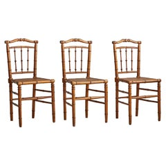 Vintage Faux Bamboo Chairs, France