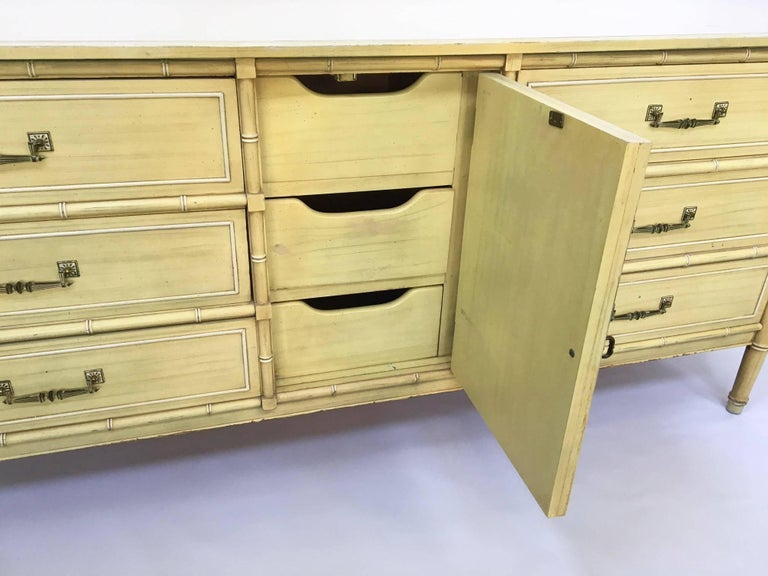 Vintage Faux Bamboo Henry Link Bali Hai Dresser In Good Condition For Jacksonville