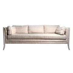 Vintage Faux Bamboo Sofa Attributed to Robsjohn Gibbings