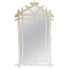 Vintage Faux Bois Regency Wall Mirror by Gampel Stoll