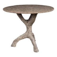 Vintage Faux Bois Table