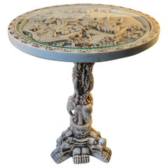 Vintage Faux Ivory Opium Table, China 1960s