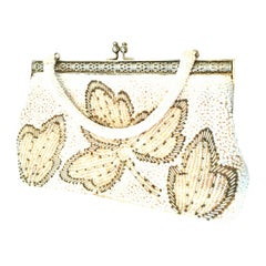 Vintage Faux Pearl & Glass Bead Hand Bag-Hong Kong