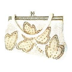 Vintage Faux Pearl & Glass Bead Hand Bag-Hong Kong