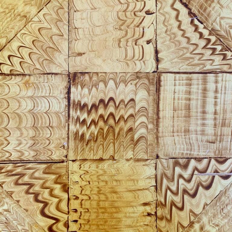 Vintage Faux Wood Grain Painted Side Table For Sale 1