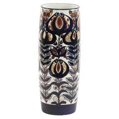 Vintage Faience Vase by Berte Jessen, Royal Copenhagen, 1968
