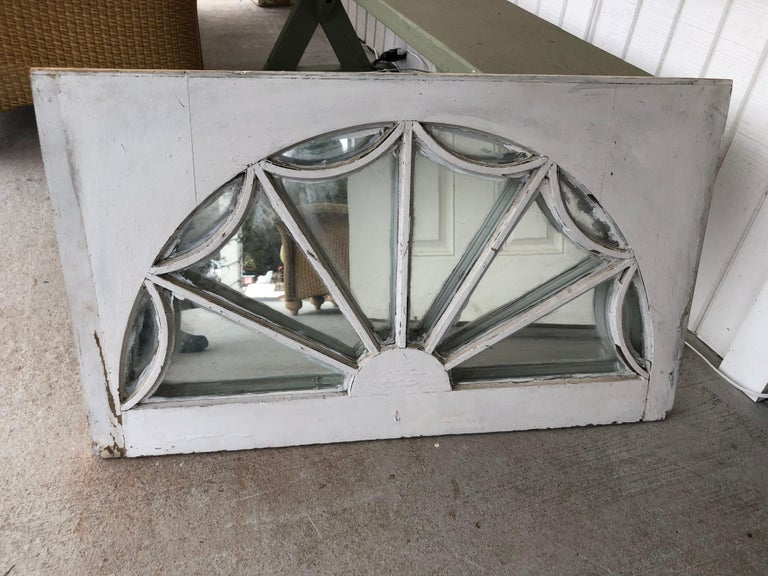 19th Century Vintage Federal Style Palladium Mirrored Window For Sale