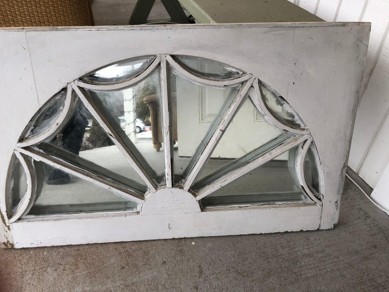 Vintage Federal Style Palladium Mirrored Window For Sale 1
