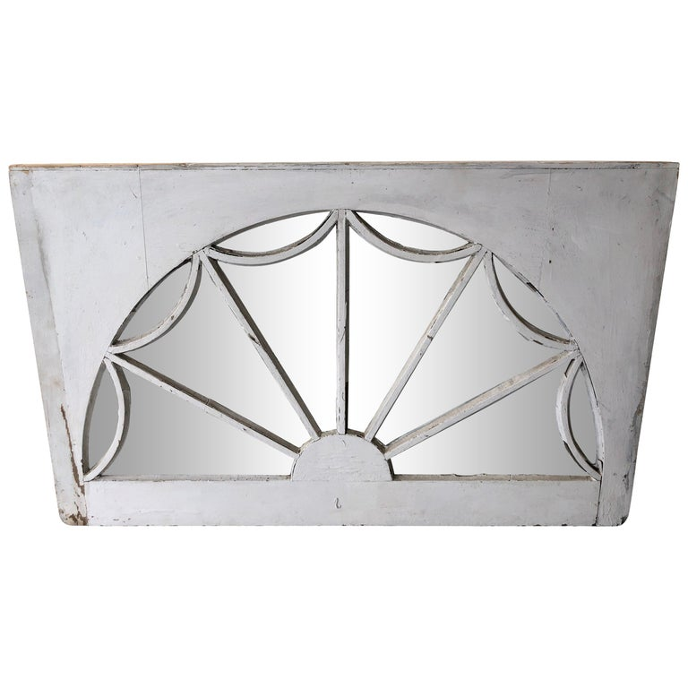 Vintage Federal Style Palladium Mirrored Window For Sale