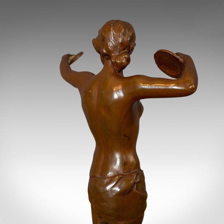 Vintage Female Figure, French, Bronze Spelter, Art Deco, Statuette, circa 1930 For Sale 6