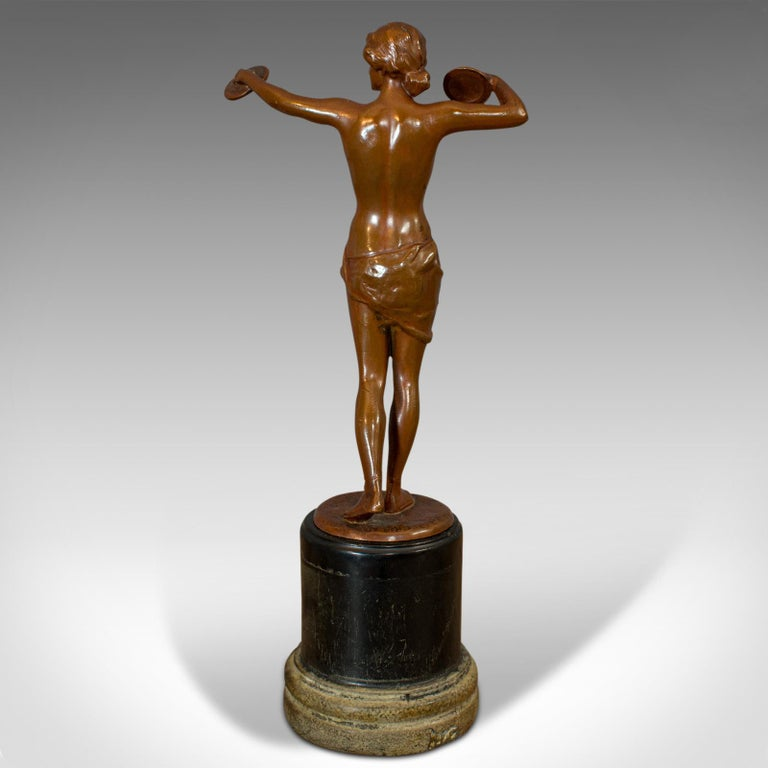 Vintage Female Figure, French, Bronze Spelter, Art Deco, Statuette, circa 1930 For Sale 2