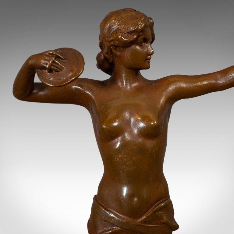 Vintage Female Figure, French, Bronze Spelter, Art Deco, Statuette, circa 1930 For Sale 5