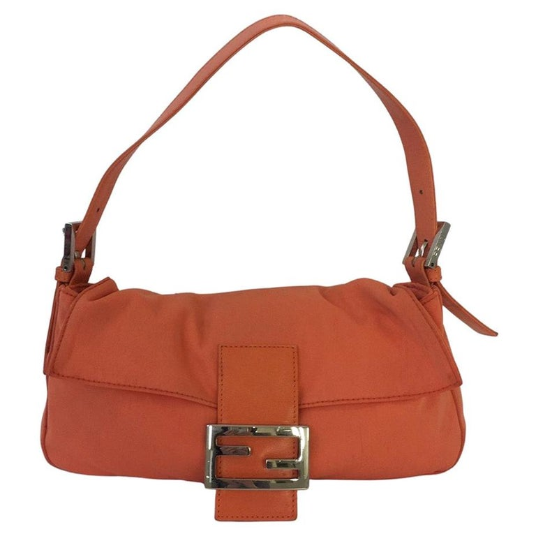 Vintage Fendi Baguette Coral Nylon For Sale