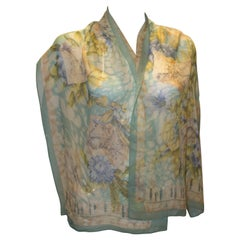 Vintage Ferragamo Silk Chiffon Scarf