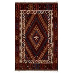 Vintage Fetiye Crimson Wool Kilim Rug