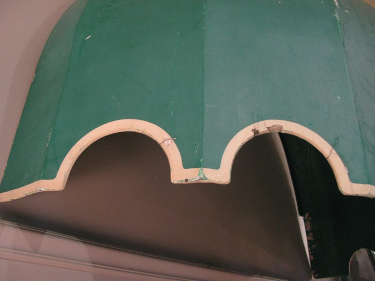 Vintage Fiberglass Canopy Awning In Fair Condition For Sale In Hudson, NY