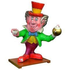Vintage Fiberglass Coffee Man, Alice in Wonderland, Fairground Figurine