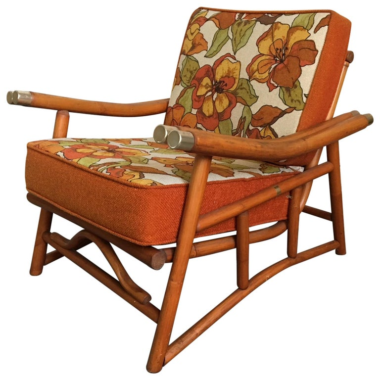Vintage Ficks Reed Bamboo Lounge Chair For Sale At 1stdibs