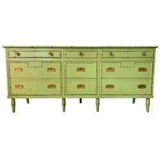 Vintage Ficks Reed Faux Bamboo Dresser
